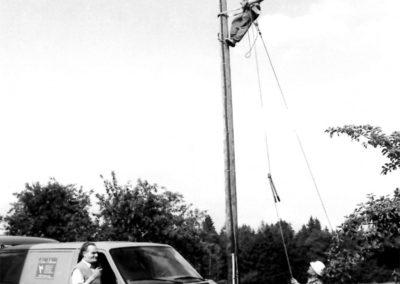 Letzte Freileitung in Stetten 1994 | Stromversorgung Seebruck eG